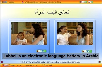 Labbel is an electronic language battery in Arabic
